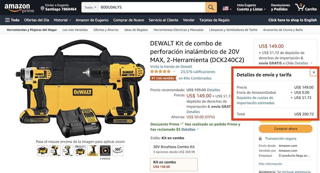 Compra de Herramientas Eléctricas por Internet en el Extranjero desde Chile