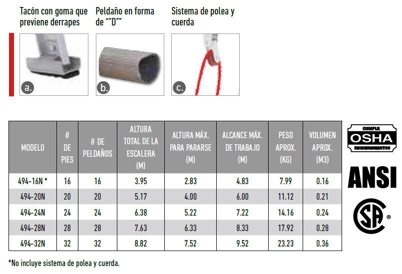 ESCALERA ALUMINIO TELESCOPICA 494-20