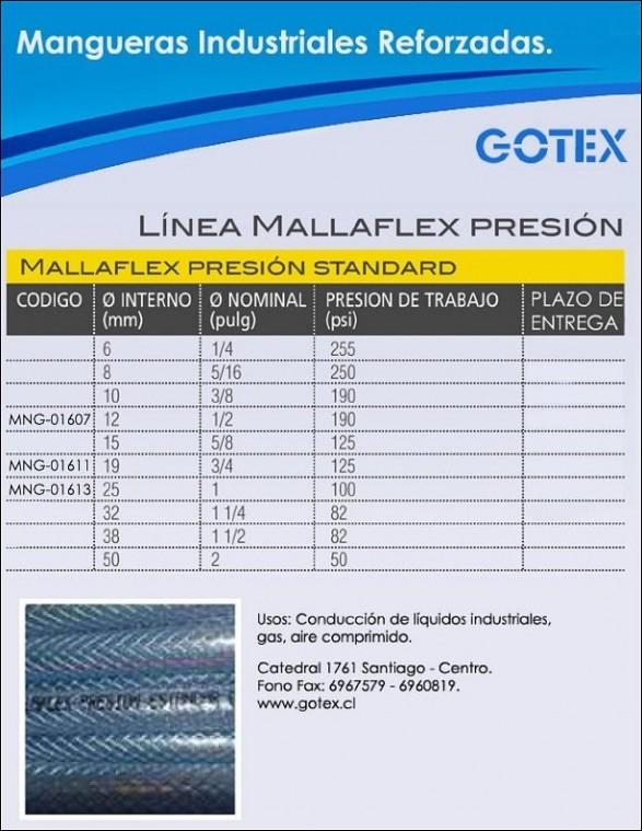 MALLAFLEX PRESIÓN STANDARD
