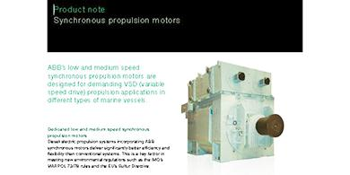 Synchronous Motors For Marine Applications