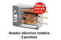 Asador Electrico Giratorio 3 Pinchos