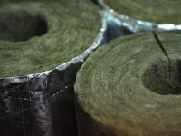 Caños De Lana Mineral Con Foil De Aluminio