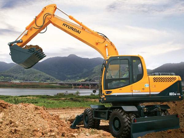 Excavadoras Sobre Ruedas
