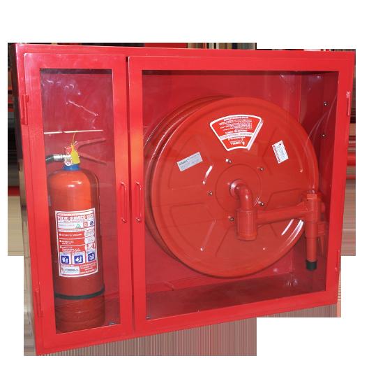 Gabinete-dos-puertas-con-un-carrete-un-extintor-6-kilos